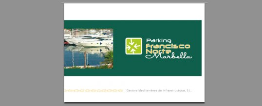 Dossier Parking Francisco Norte – Marbella